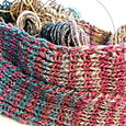 Striped Noro scarf for Rosa