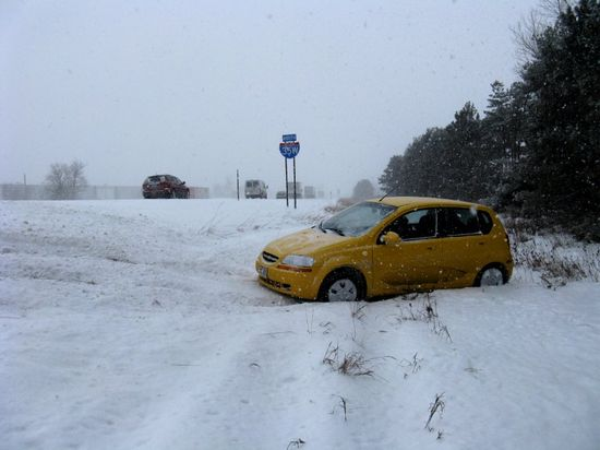 Car in ditch 1