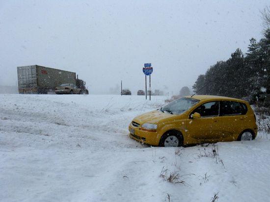 Car in ditch 2
