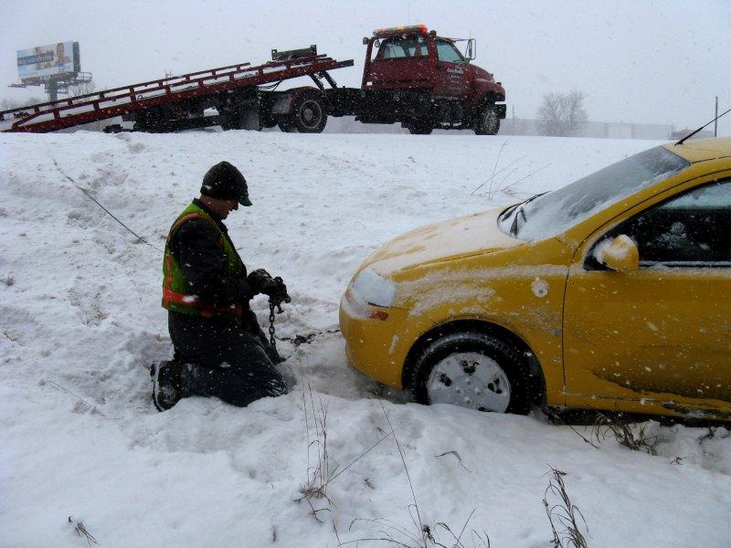 Car in ditch 4