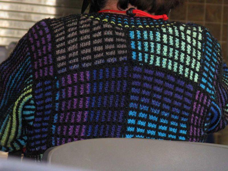Yo grid sweater