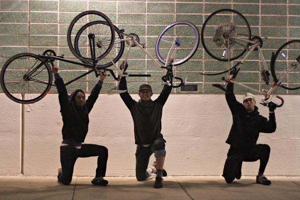 Bikes aloft