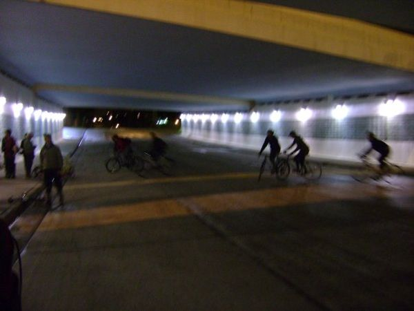 Ridin under 35W bridge