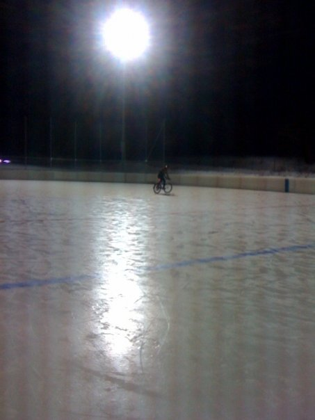M bike on rink