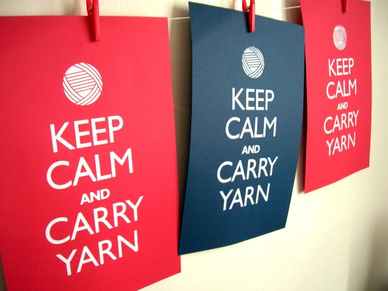 Keep calm yarn