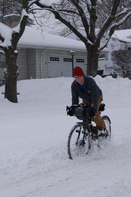 Bike snow