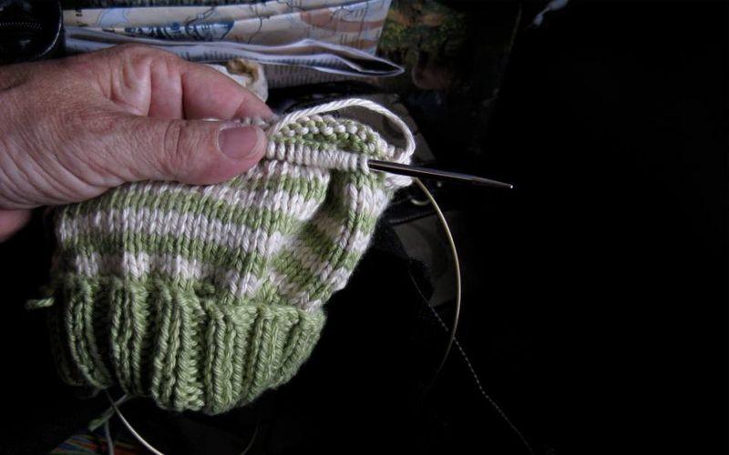 Fail scared knitting