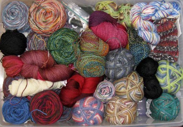 Yarn sock stash