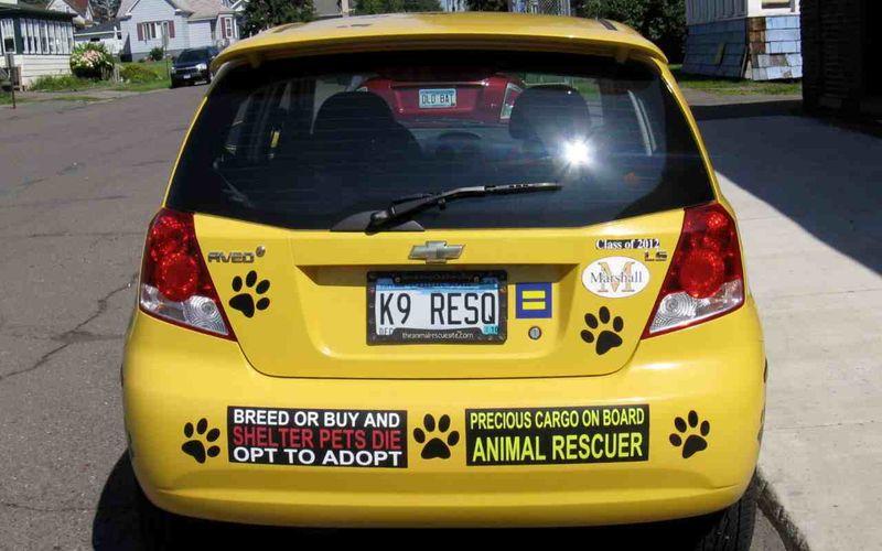 Car paw stickers