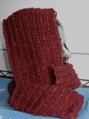 Red scarf berrocco