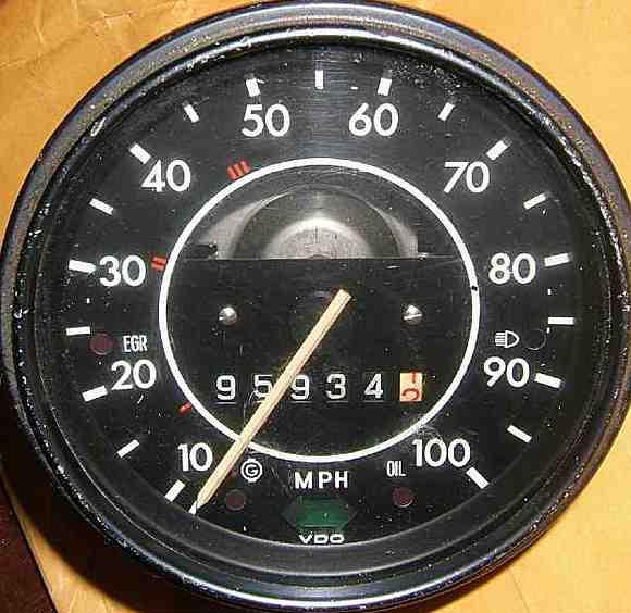 Vw speedometer