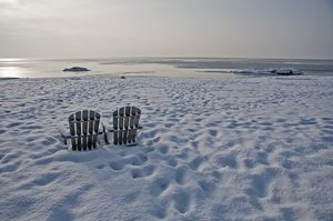 Snow beach chairs
