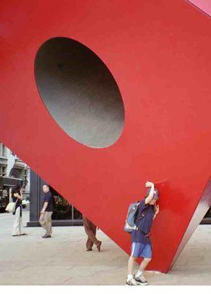 M red block
