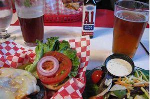 Beer burger fries
