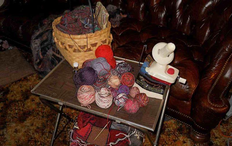 Sock yarn winding