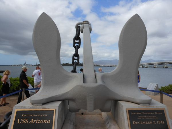 USS Arizona anchor chain