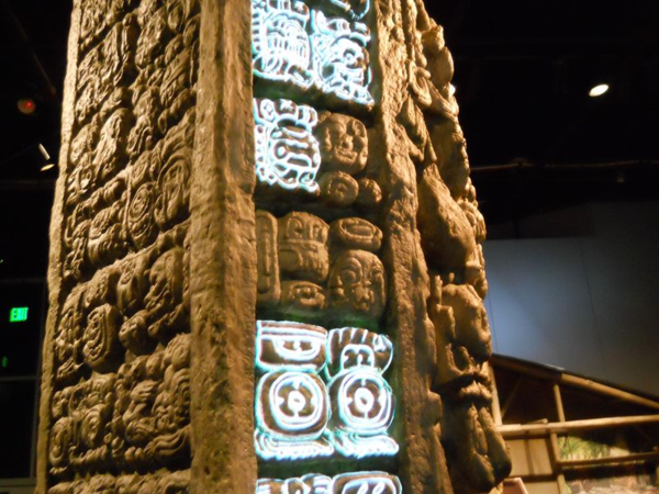 Sometimes the stele was illumined.