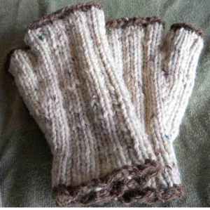 For Julia of Julia's Java in Milltown -- she works in a tiny kiosk with just a space heater. (And she DESERVES a handknit.)