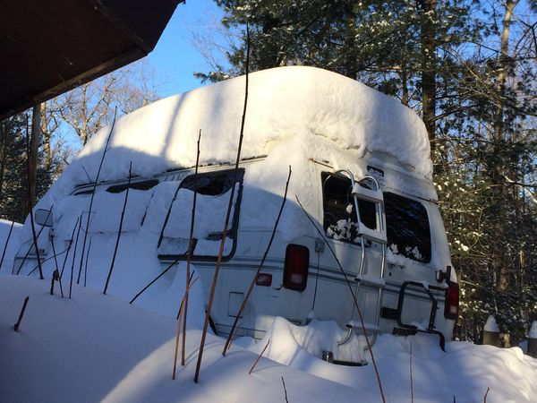Snow on van