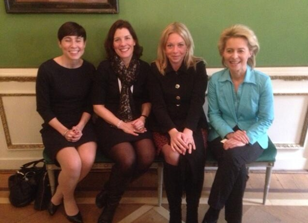 Defense ministers of Norway, Sweden, Netherlands, and Germany.