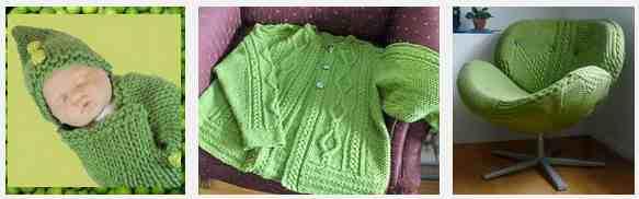 Green knitting 3