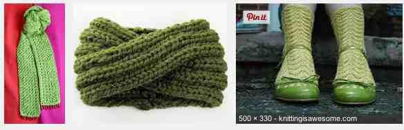 Green knitting 2