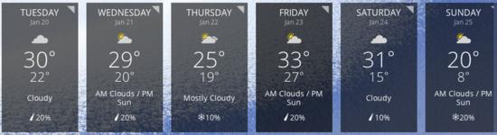 Get colder already!