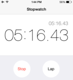 Yes, I timed it. Wouldn't you?