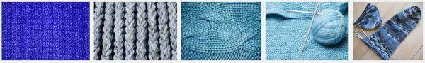 Blue knitting