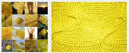 Yellow knitting
