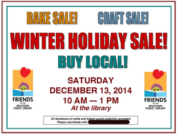 Poster craft bake sale