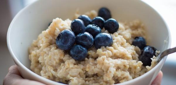 Blueberries oatmeal